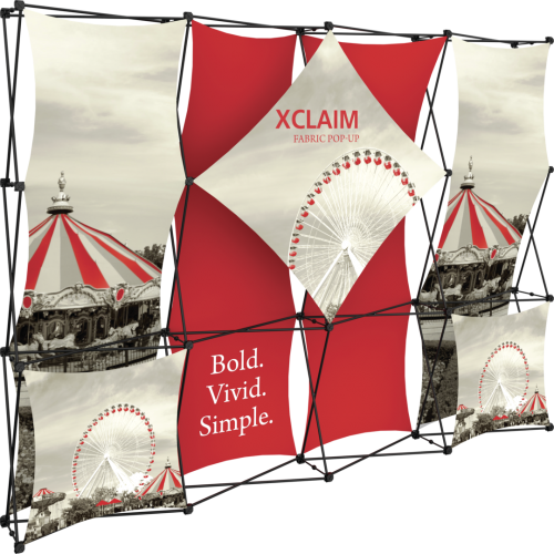 Xclaim 10ft Fabric Popup Display Kit 01