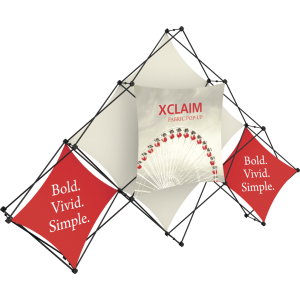 Xclaim 10ft 6 Quad Pyramid Fabric Popup Display Kit 02